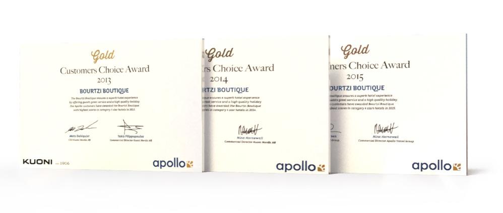 Bourtzi Hotels Awards - Apollo