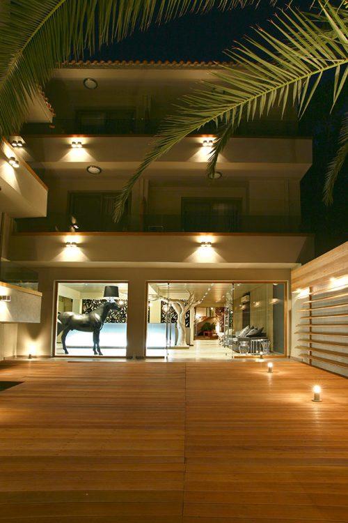 Entrance (Night) - Bourtzi Hotel