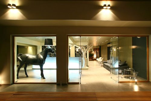 Entrance & Reception (Night) - Bourtzi Boutique Hotel