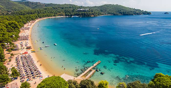 Koukounaries Beach in Skiathos Island - Bourtzi Boutique Hotel