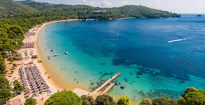 Koukounaries Beach in Skiathos Island - Bourtzi Hotel
