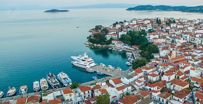 Skiathos Town - The Old Port in the Afternoon